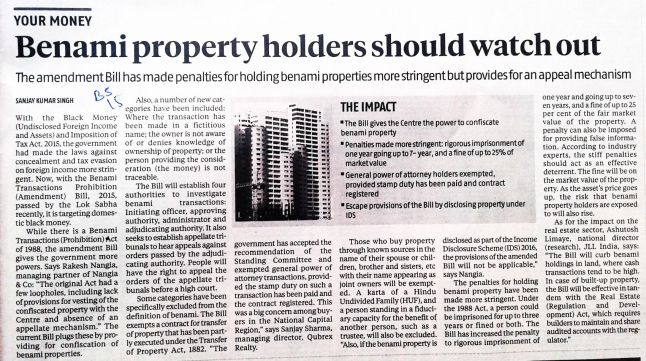 Benami-Property-Holders-Should-Watch-Out-Business-Standard-03-Aug-2016